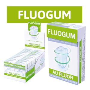 Chewing-Gum Fluogum au Fluor Menthe Sans Sucre